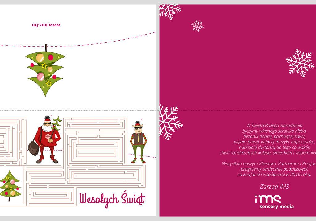 Projekt kartki drukowanej dla IMS S.A.