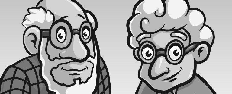 Dzień Babci i Dziadka na etykiecie.