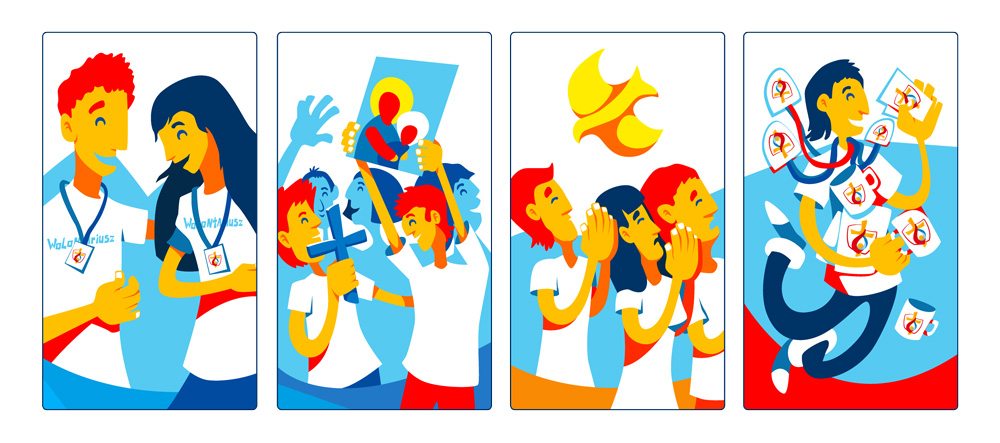Ilustracje na Światowe Dni Młodzieży.